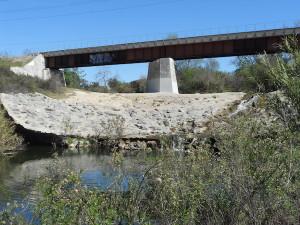 Southern California Metrolink crossing of San Juan Creek in San Juan Capistrano