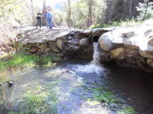 Trabuco Canyon concrete road crossing in the Santa Ana Mountains upstream of Mission Viejo