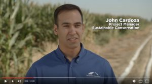 Video: Senior Project Manager John Cardoza discusses the water quality, water efficiency and crop benefits of Sustainable Conservation's liquid-manure drip irrigation pilot project.