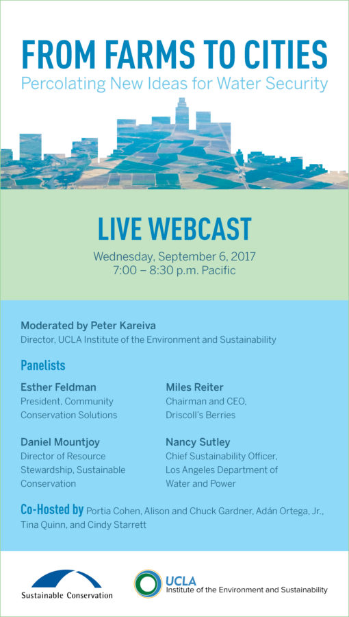 From Farms to Cities Live Webcast Invitation Image