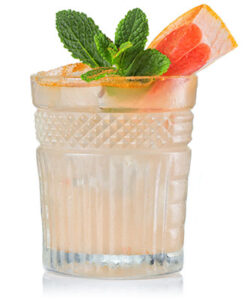 Cocktail with grapefruit wedge