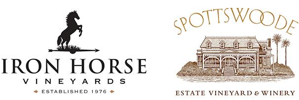 Iron Horse Vineyards and Spottswoode Estate Vineyard logos